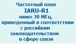 Частотный план IARU-R1, приведенный к российскому законодательству